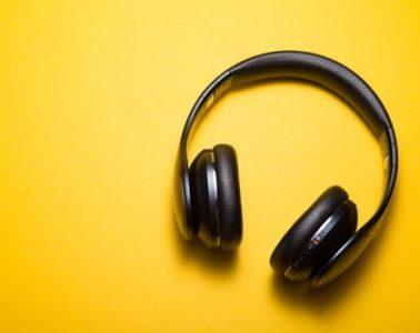 Headphones yellow